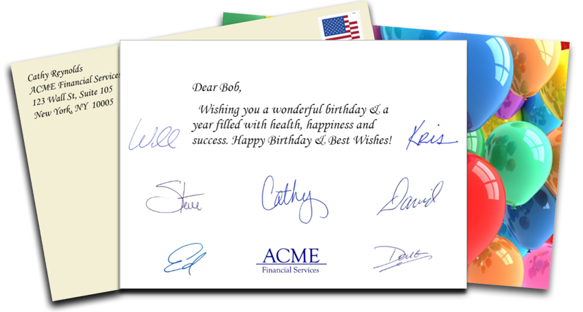 Automated Birthday Card Services