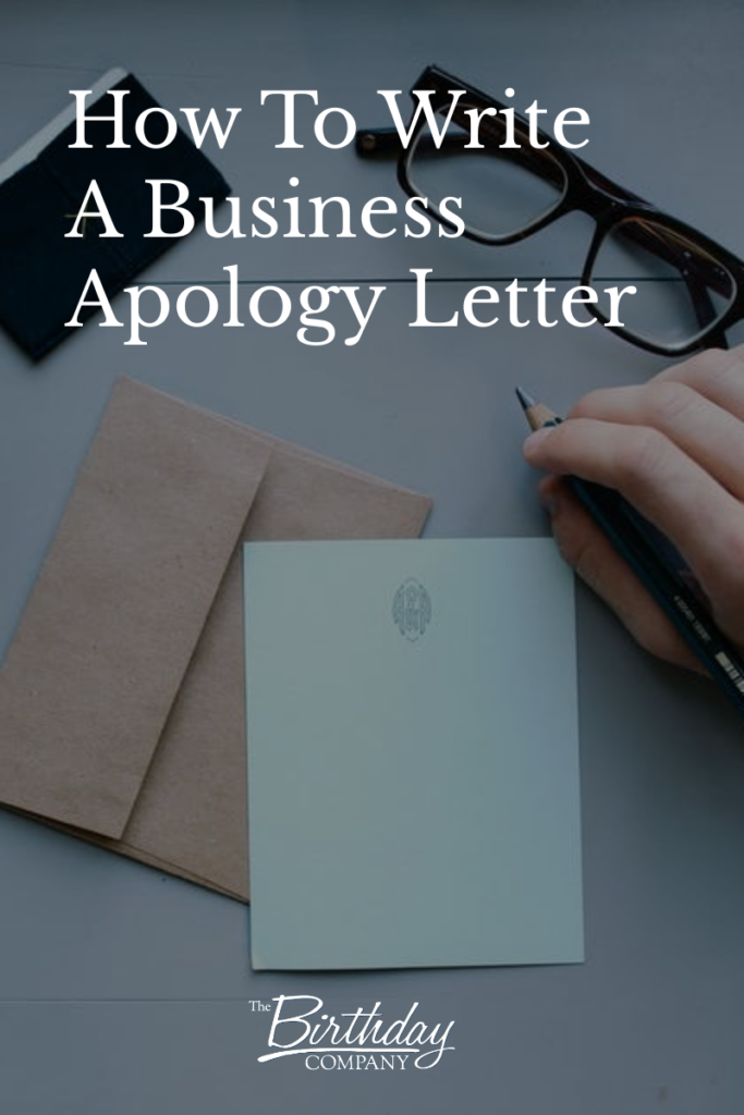 How To Write A Business Apology Letter | customer relations