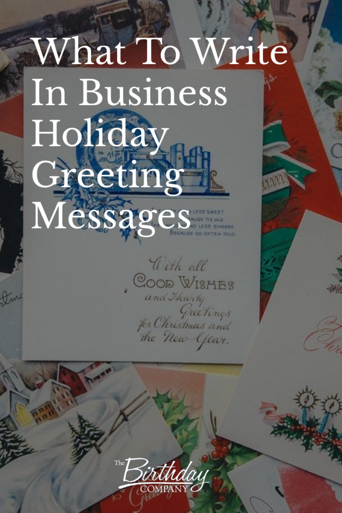 what to write in business holiday greeting messages